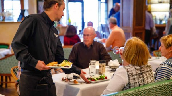 Diners Served Dinner in Ridgway Bar Lounge