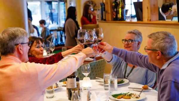 Diners Cheers at Ridgway Bar & Grill