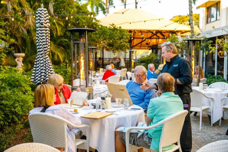Diners Enjoy the Ridgway Garden