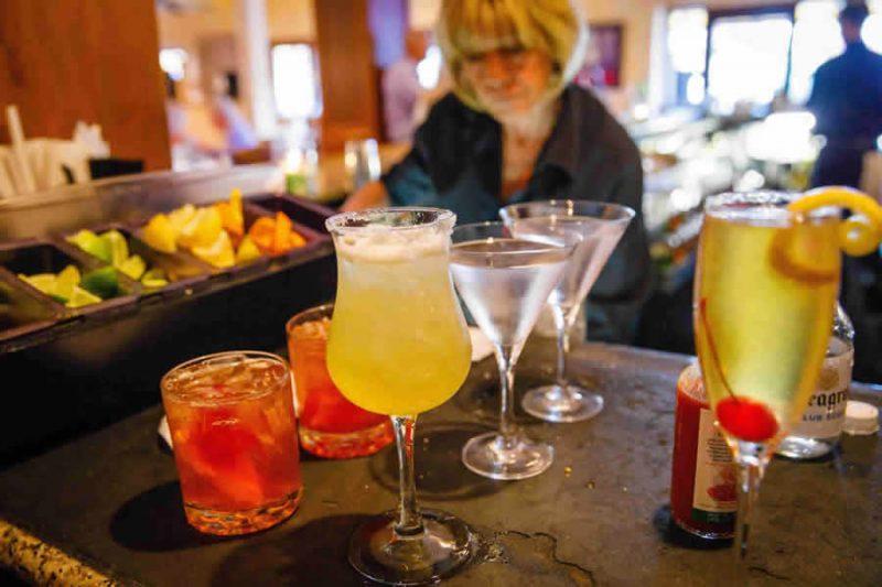 Drinks at Ridgway Service Bar