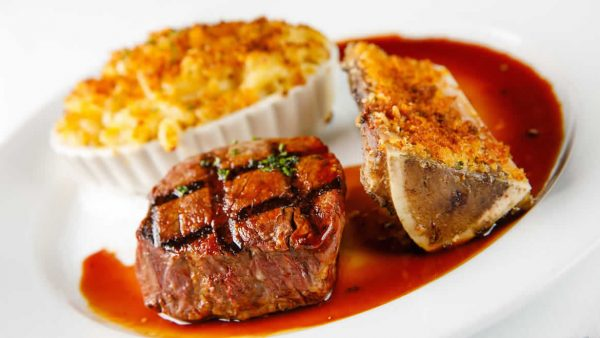 Filet with Bone Marrow and Mac & Cheese