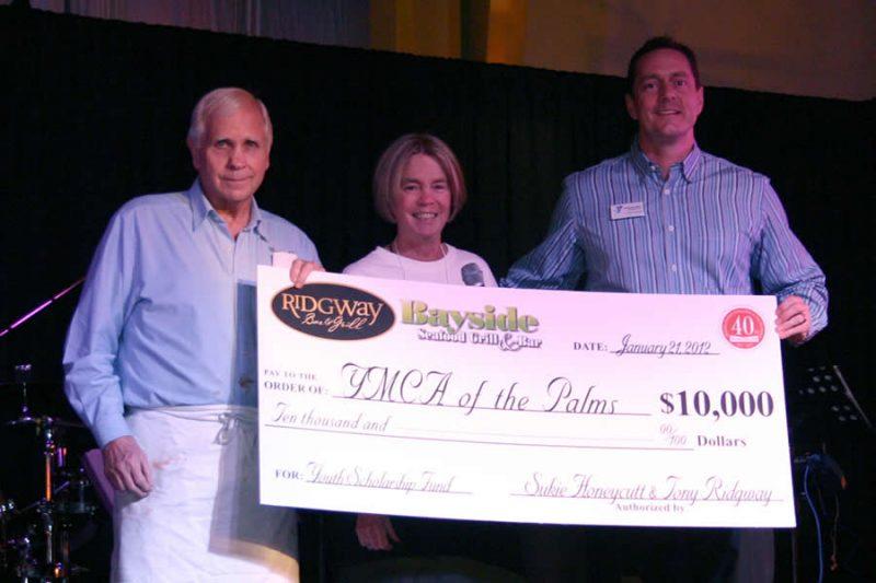 Tony and Sukie Donate to YMCA