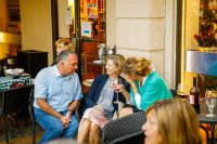 Guests Enjoy Ridgway Courtyard