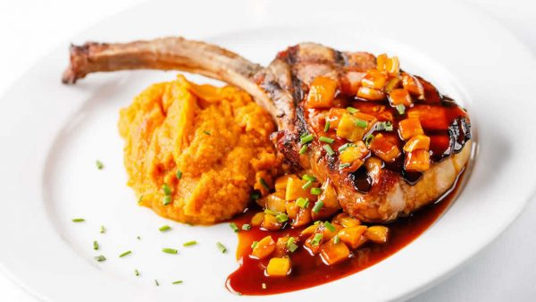 Pork Chop with Sweet Mashed Potatoes