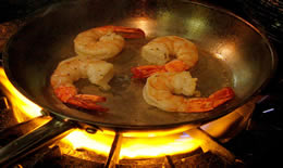 Saute Pan Pink Shrimp