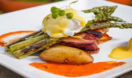 Brunch Pork Belly and Asparagus
