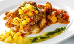 Red Snapper, Ratatouille, Mango Salsa