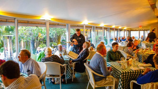 Inside dining at Ridgway