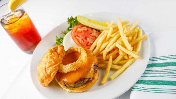 Burger & Fries at Ridgway Bar & Grill